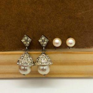 Two Pair 40s Vintage Earrings